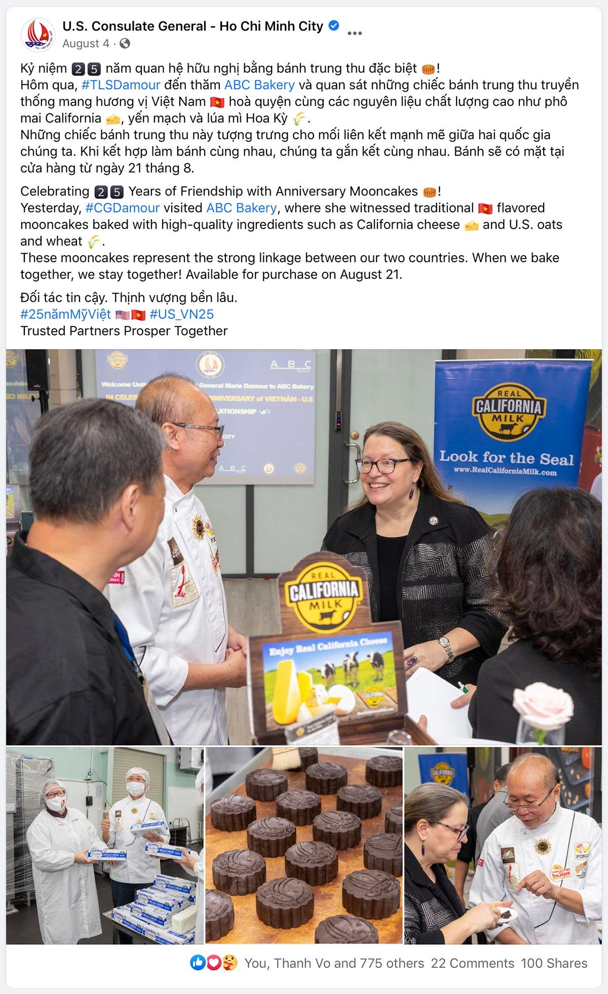 U.S. Consul General tour to ABC Bakery
